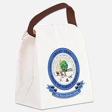 North Dakota Seal Canvas Lunch Bag