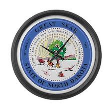 North Dakota Seal Large Wall Clock