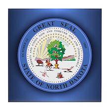 North Dakota Seal Tile Coaster