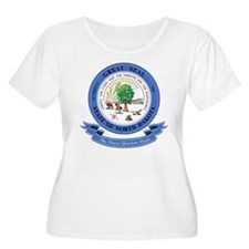 North Dakota Seal Plus Size T-Shirt