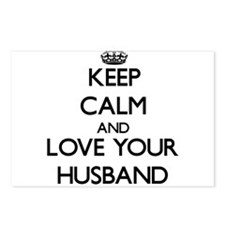 Keep Calm and Love your Husband Postcards (Package