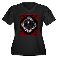 Phantom (Red) ~ Women's Plus Size V-Neck Dark T-Sh