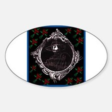 Phantom (with Red Roses) ~ Oval Decal