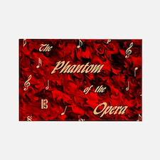 Phantom of the Opera, Red Swirl Logo, Magnets