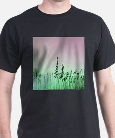 sea oats red green florida sunrise T-Shirt