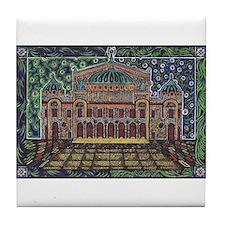 Funny Phantom opera Tile Coaster