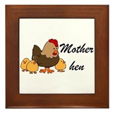 Mother hen Framed Tile