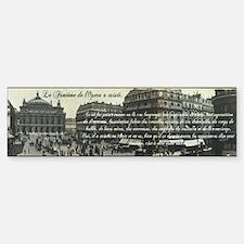 Paris Opera House View Bumper Bumper Sticker