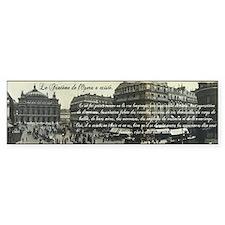 Paris Opera House View Bumper Sticker