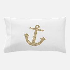 Gold Glitter Anchor Pillow Case