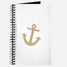 Gold Glitter Anchor Journal
