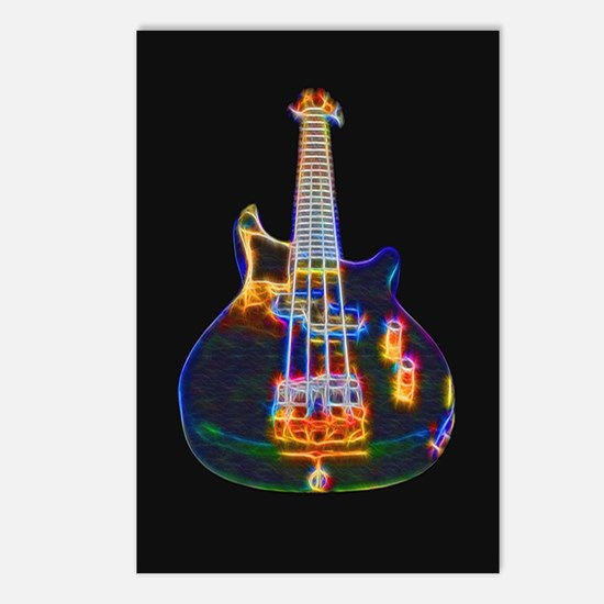 Stylized Electric Bass Postcards (package Of 8)