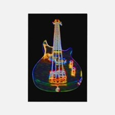 Stylized Electric Bass Guitar Magnets