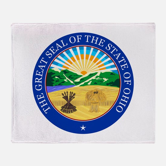 Ohio Seal Throw Blanket
