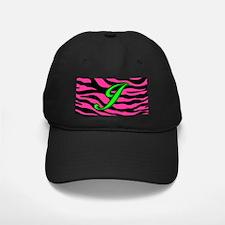 HOT PINK ZEBRA GREEN J Baseball Hat