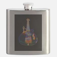 Stylized Electric Bass Guitar Flask