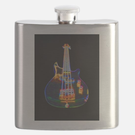 Stylized Electric Bass Guitar Flask