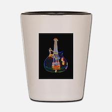 Stylized Electric Bass Guitar Shot Glass