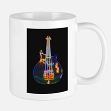 Stylized Electric Bass Guitar Mugs