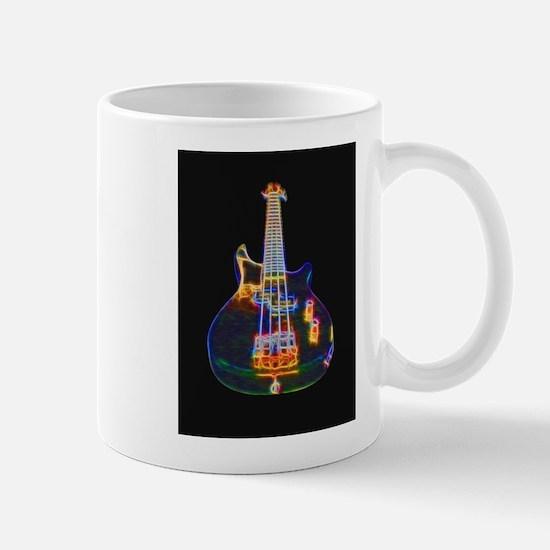Stylized Electric Bass Guitar Mugs