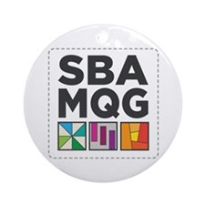 South Bay Area Modern Quilt Guild Ornament (round)