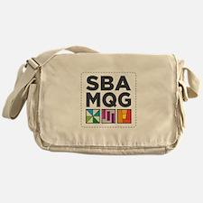 South Bay Area Modern Quilt Guild Logo Messenger B