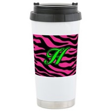 HOT PINK ZEBRA GREEN H Travel Mug