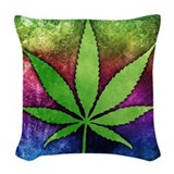 Weed Throw Pillows