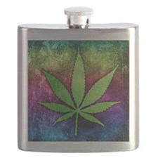 Pot Leaf Flask