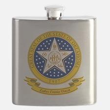 Oklahoma Seal Flask