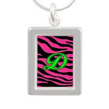 HOT PINK ZEBRA GREEN D Necklaces