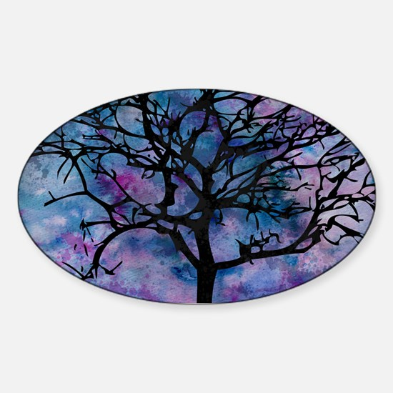 Watercolor Tree Decal