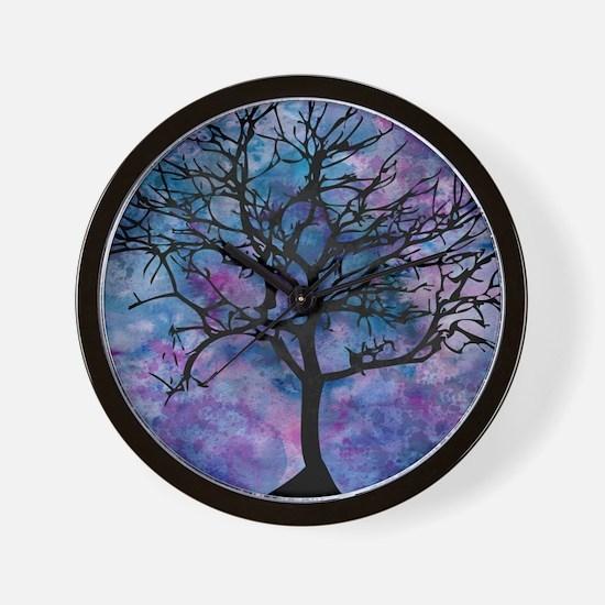 Watercolor Tree Wall Clock