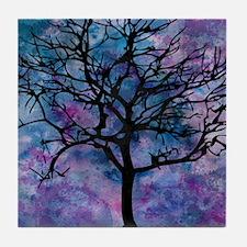 Watercolor Tree Tile Coaster