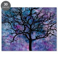 Watercolor Tree Puzzle