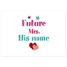 Personalize Future Mrs,___ Invitations