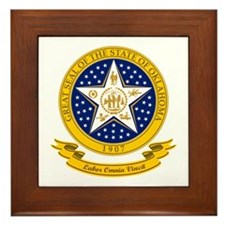Oklahoma Seal Framed Tile