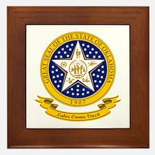Oklahoma Seal Framed Tile