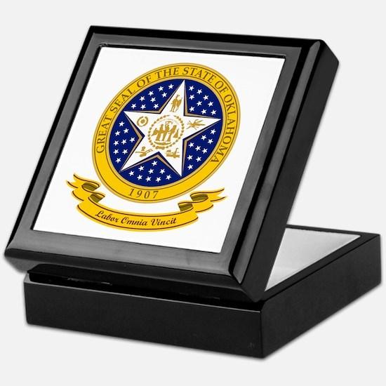 Oklahoma Seal Keepsake Box