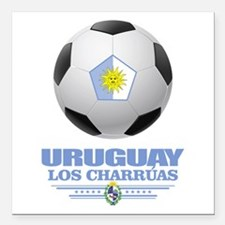 "Uruguay Football Square Car Magnet 3"" x 3"""