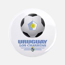 "Uruguay Football 3.5"" Button"