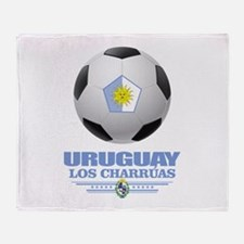 Uruguay Football Throw Blanket