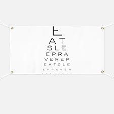Eat Sleep Rave Repeat Eye Chart Banner