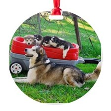 Pile of Puppies Ornament