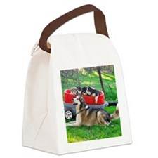 Pile of Puppies Canvas Lunch Bag