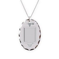 Urinal.png Necklace Oval Charm