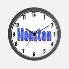 Houston Lightning Wall Clock