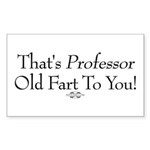 Professor Old Fart Rectangle Sticker