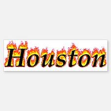 Houston Flame Bumper Bumper Bumper Sticker