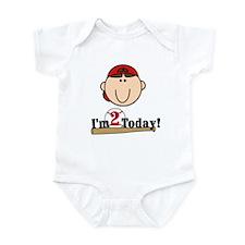 Baseball 2nd Birthday(brown) Infant Bodysuit
